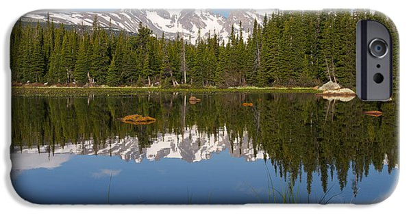 Nederland iPhone Cases - Indian Peaks Reflection iPhone Case by Aaron Spong