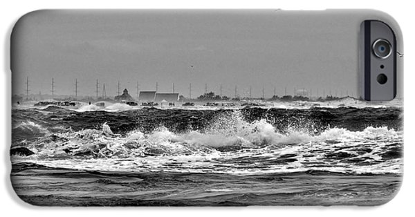Historic Site iPhone Cases - Indian River Life-Saving Station - Black and White iPhone Case by Kim Bemis
