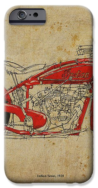 Indian Scout 1928 iPhone Case by Pablo Franchi