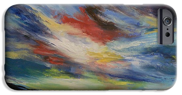 Michael Paintings iPhone Cases - Indian Sunset iPhone Case by Michael Creese