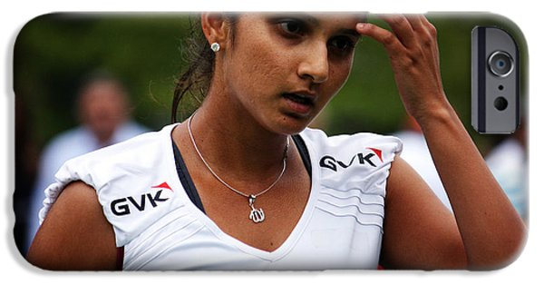 Wta iPhone Cases - Indian Tennis Player Sania Mirza iPhone Case by Nishanth Gopinathan