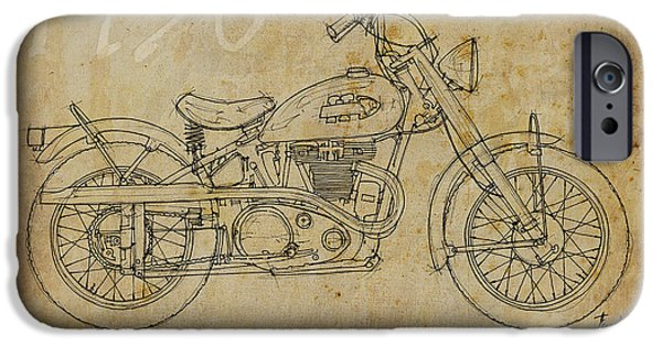 Indian Ink iPhone Cases - Indian Warrior Tt 1950 iPhone Case by Pablo Franchi