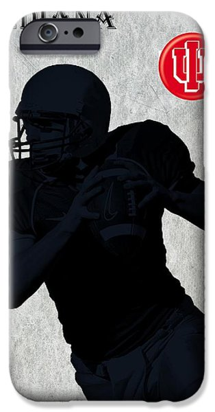 Nebraska iPhone Cases - Indiana Football iPhone Case by David Dehner