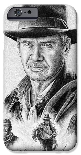 Big Screen iPhone Cases - Indiana Jones iPhone Case by Andrew Read