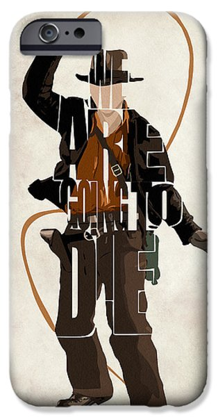 Ark iPhone Cases - Indiana Jones VOL 2 - Harrison Ford iPhone Case by Ayse Deniz