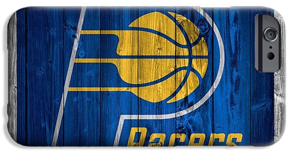 Indiana Photography iPhone Cases - Indiana Pacers Barn Door iPhone Case by Dan Sproul