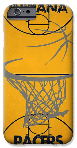 Pacers iPhone Cases - Indiana Pacers Court iPhone Case by Joe Hamilton