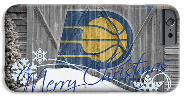 Pacers iPhone Cases - Indiana Pacers iPhone Case by Joe Hamilton