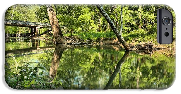 Indiana Springs iPhone Cases - Indiana Reflections iPhone Case by Adam Jewell