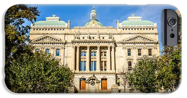 Indiana Photography iPhone Cases - Indiana Statehouse State Capital Building Picture iPhone Case by Paul Velgos
