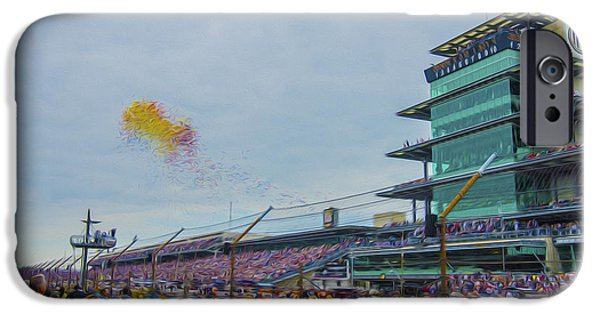 Indy Car iPhone Cases - Indianapolis 500 May 2013 Balloons Race Start iPhone Case by David Haskett
