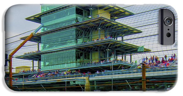 Indy Car Photographs iPhone Cases - Indianapolis 500 May 2013 Square iPhone Case by David Haskett