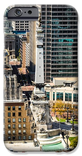 Indianapolis Aerial Picture of Monument Circle iPhone Case by Paul Velgos