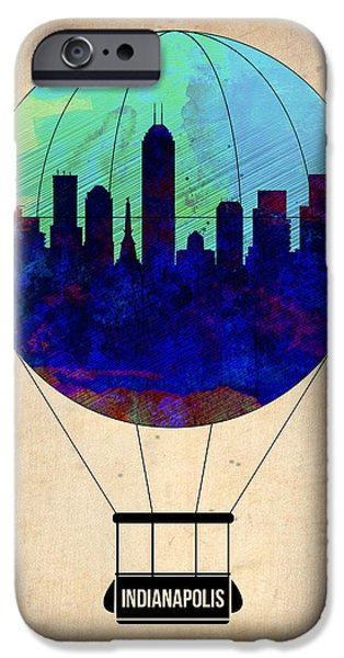 Indianapolis iPhone Cases - Indianapolis Air Balloon iPhone Case by Naxart Studio