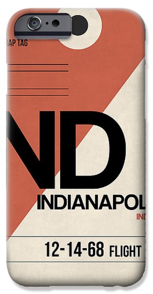 Indianapolis iPhone Cases - Indianapolis Airport Poster 1 iPhone Case by Naxart Studio