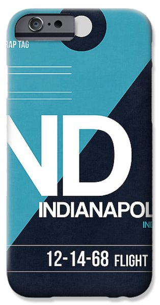 Indianapolis iPhone Cases - Indianapolis Airport Poster 2 iPhone Case by Naxart Studio
