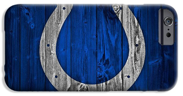 Old Barns iPhone Cases - Indianapolis Colts Barn Door iPhone Case by Dan Sproul