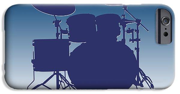 Drum Sets iPhone Cases - Indianapolis Colts Drum Set iPhone Case by Joe Hamilton