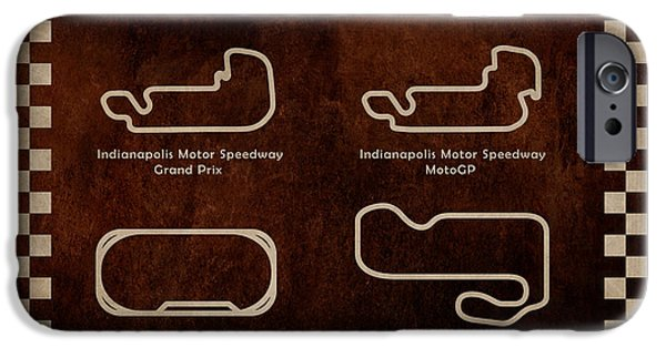 Motor Sport iPhone Cases - Indianapolis Courses iPhone Case by Mark Rogan