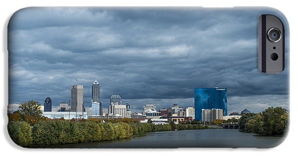 Citylife iPhone Cases - Indianapolis Indiana Skyline FJ Storm iPhone Case by David Haskett