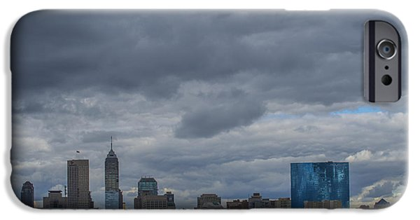 Citylife iPhone Cases - Indianapolis Indiana Skyline N Storm iPhone Case by David Haskett