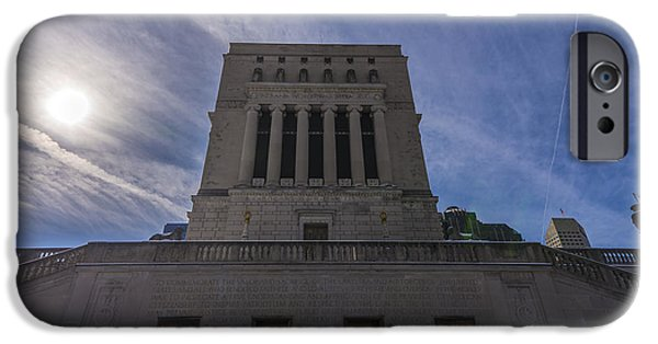 Monument Circle iPhone Cases - Indianapolis Indiana War Memorial iPhone Case by David Haskett