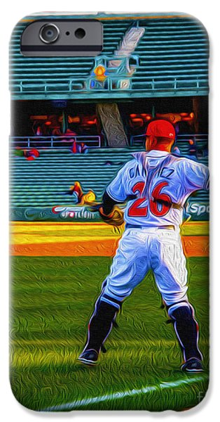 Indianapolis Indians Catcher iPhone Case by David Haskett
