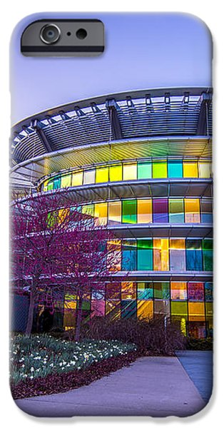 Indianapolis Museum of Art Blue Hour Lights iPhone Case by David Haskett