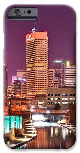 Indianapolis Skyline 200 iPhone Case by David Haskett