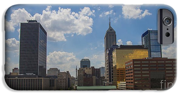 Indy Car iPhone Cases - Indianapolis Skyline June 2013 iPhone Case by David Haskett