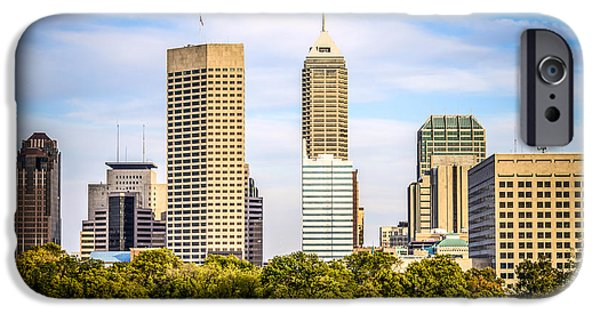 Business Photographs iPhone Cases - Indianapolis Skyline Picture iPhone Case by Paul Velgos