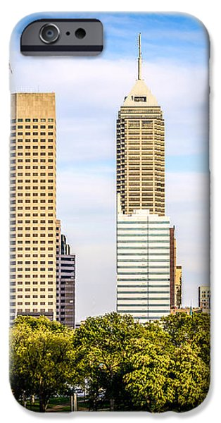 Indianapolis Skyline Picture iPhone Case by Paul Velgos