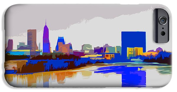 Citylife iPhone Cases - Indianapolis Indiana Winter Paint iPhone Case by David Haskett