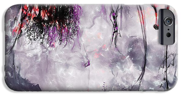 Background Mixed Media iPhone Cases - Indifference iPhone Case by Shanina Conway