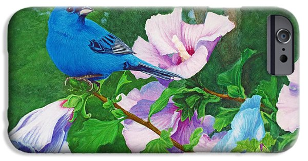 Affordable iPhone Cases - Indigo Bunting  iPhone Case by Ken Everett
