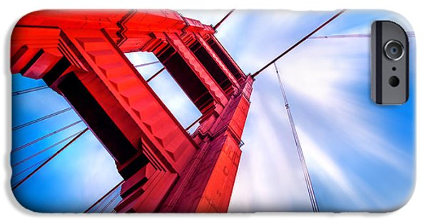 Golden Gate iPhone Cases - Industrial Boom iPhone Case by Az Jackson