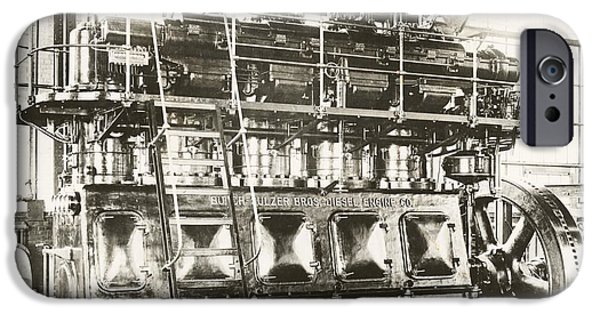Epic iPhone Cases - Industrial Diesel Engine, 20th Century iPhone Case by Miriam And Ira D. Wallach Division Of Art, Prints And Photographs