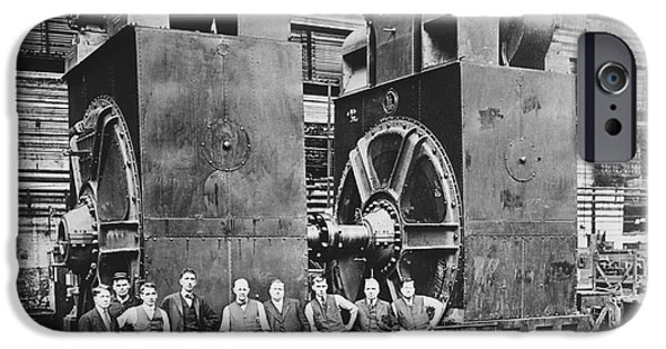 Dynamos iPhone Cases - Industrial Dynamos, Historical Image iPhone Case by Library Of Congress