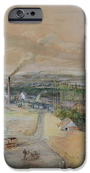 Industrial Landscape in the Blanzy Coal Field iPhone Case by Ignace Francois Bonhomme