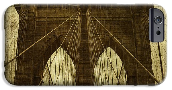 Brooklyn Bridge Digital Art iPhone Cases - Industrial Spiders iPhone Case by Andrew Paranavitana