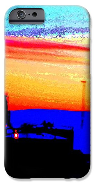Industrial sunset iPhone Case by Hilde Widerberg