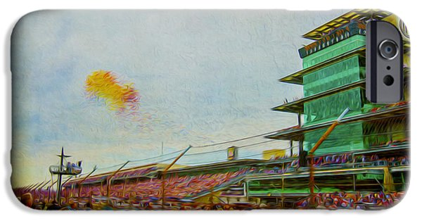 Indy Car iPhone Cases - Indy 500 May 2013 Race Day Start Balloons iPhone Case by David Haskett