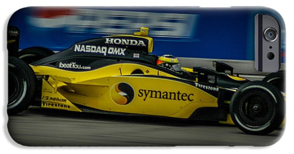 Indy Car iPhone Cases - Indy Car 12 iPhone Case by Ronald Grogan