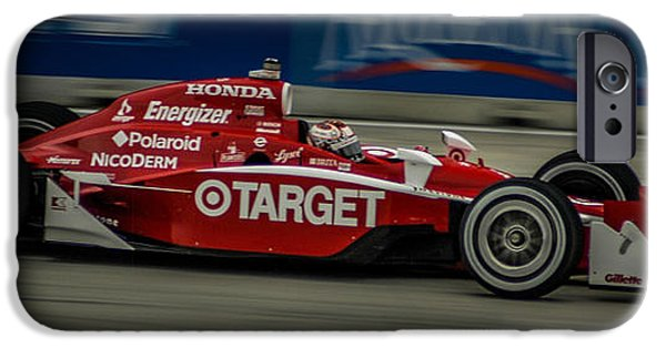 Indy Car iPhone Cases - Indy Car 9 iPhone Case by Ronald Grogan