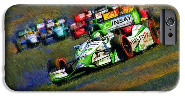 Indy Car iPhone Cases - Indy Cars Carlos Munoz  iPhone Case by Blake Richards
