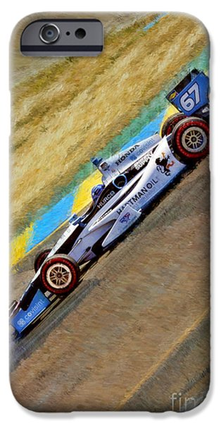 Indy Car iPhone Cases - Indy Cars Josef Newgarden Down Hill iPhone Case by Blake Richards