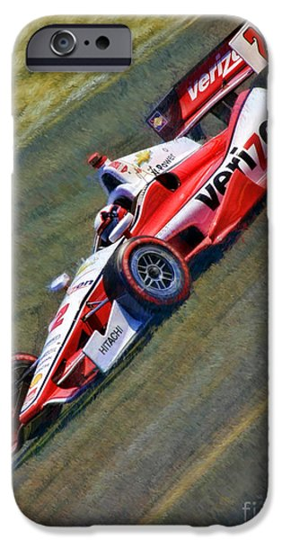 Indy Car iPhone Cases - Indy Cars Juan Pablo Montoya iPhone Case by Blake Richards