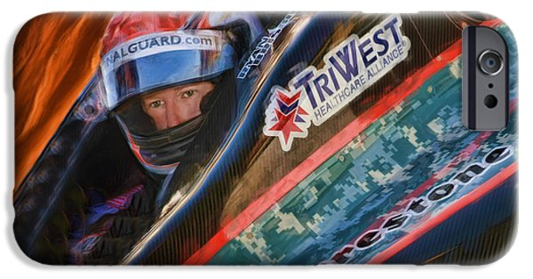 Indy Car iPhone Cases - Indy Cars Ryan Briscoe iPhone Case by Blake Richards