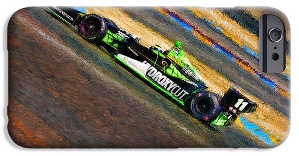 Indy Car iPhone Cases - Indy Cars Sebastien Bourdais iPhone Case by Blake Richards