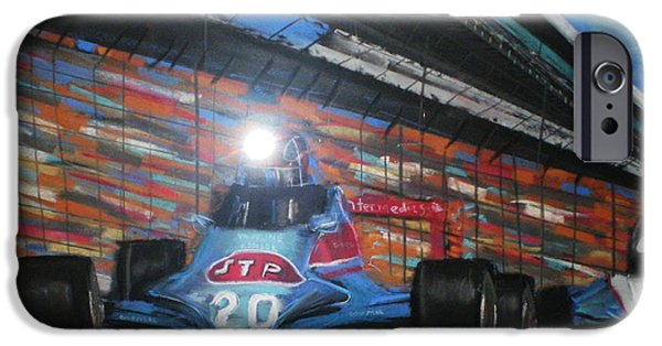Stp iPhone Cases - Indy Cars iPhone Case by Shannon Gerdauskas